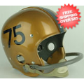 Helmets, Full Size Helmet: West Virginia Mountaineers 1955 to 1964 Sam Huff Full Size NCAA Throwback V...