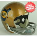 Helmets, Full Size Helmet: West Virginia Mountaineers 1973 to 1978 Full Size NCAA Throwback Vintage Fo...