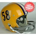 Helmets, Full Size Helmet: LSU Tigers 1958 Full Size NCAA Throwback Vintage Football Helmet