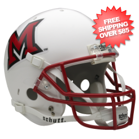 Miami of Ohio Redhawks Full Replica Football Helmet Schutt