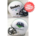 Helmets, Mini Helmets: Super Bowl 43 XLIII Riddell Mini Replica Helmet Winner White <B>CLOSEOUT</B...