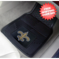 Car Accessories, Detailing: New Orleans Saints Vinyl Car Mats