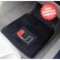 Car Accessories, Detailing: Miami Hurricanes Vinyl Car Mats