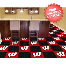 Wisconsin Badgers Carpet Tiles