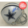 Autographs, Mini Football Helmets: Troy Aikman Dallas Cowboys Autographed Mini Helmet