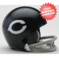Helmets, Mini Helmets: Chicago Bears 1962 to 1973 Riddell Mini Replica Throwback Helmet 2 Bar