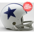 Helmets, Mini Helmets: Dallas Cowboys 1960 to 1963 Riddell Mini Replica Throwback Helmet 2 Bar