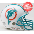 Helmets, Mini Helmets: Miami Dolphins 1980 to 1996 Riddell Mini Replica Throwback Helmet