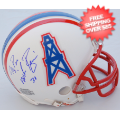Autographs, Mini Football Helmets: Mike Rozier Houston Oilers Autographed Mini Helmet