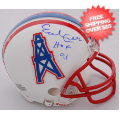 Autographs, Mini Football Helmets: Earl Campbell Houston Oilers Autographed Mini Helmet
