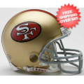 Helmets, Mini Helmets: San Francisco 49ers 1964 to 1995 Riddell Mini Replica Throwback Helmet