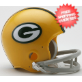 Helmets, Mini Helmets: Green Bay Packers 1961 to 1979 Riddell Mini Replica Throwback Helmet 2 Bar