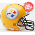Helmets, Mini Helmets: Pittsburgh Steelers 1962 Riddell Mini Replica Throwback Helmet 75th Anniver...