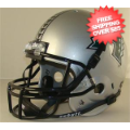 Helmets, Full Size Helmet: Hawaii Warriors Full Replica Football Helmet Schutt <B>Silver</B>