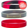 Tailgating, Fan Gear: Tampa Bay Buccaneers Rubber Wristbands 3 Pack