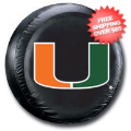 Car Accessories, Detailing: Miami Hurricanes Tire Cover