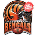 Home Accessories, Game Room: Cincinnati Bengals Wall Clock