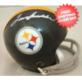 Autographs, Mini Football Helmets: Terry Bradshaw Pittsburgh Steelers Autographed Mini Helmet