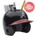Office Accessories, Desk Items: Atlanta Braves Miniature Batters Helmet Desk Caddy