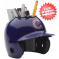 Office Accessories, Desk Items: Chicago Cubs Miniature Batters Helmet Desk Caddy