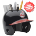 Office Accessories, Desk Items: Cleveland Indians Miniature Batters Helmet Desk Caddy