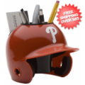 Office Accessories, Desk Items: Philadelphia Phillies Miniature Batters Helmet Desk Caddy