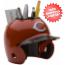 Cincinnati Reds Miniature Batters Helmet Desk Caddy