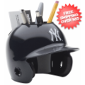 Office Accessories, Desk Items: New York Yankees Miniature Batters Helmet Desk Caddy