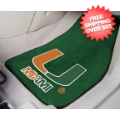 Car Accessories, Detailing: Miami Hurricanes Car Mats 2 Piece