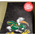 Car Accessories, Detailing: Miami Hurricanes (Sebastian the Ibis) Car Mats 2 Piece