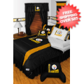 Home Accessories, Bed and Bath: Pittsburgh Steelers Comforter and Sheet Set Twin Sideline
