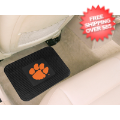 Car Accessories, Detailing: Clemson Tigers Vinyl Car Mats Rear 2 Piece