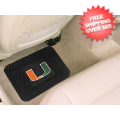 Car Accessories, Detailing: Miami Hurricanes Vinyl Car Mats Rear 2 Piece