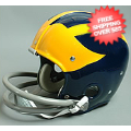 Helmets, Full Size Helmet: Michigan Wolverines Full Size Helmet Throwback 1965 TK