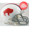 Helmets, Mini Helmets: Buffalo Bills 1965 to 1973 Riddell Mini Replica Throwback Helmet