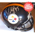 Autographs, Mini Football Helmets: Greg Lloyd Pittsburgh Steelers Autographed Mini Helmet