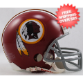 Helmets, Mini Helmets: Washington Redskins 1972 to 1977 Riddell Mini Replica Throwback Helmet
