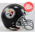 Helmets, Mini Helmets: Pittsburgh Steelers 1963 to 1976 Riddell Mini Replica Throwback Helmet
