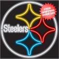 Home Accessories, Game Room: Pittsburgh Steelers Neon Sign