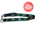 Apparel, Accessories: Oakland Athletics MLB Lanyard