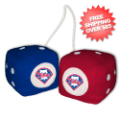 Car Accessories, Detailing: Philadelphia Phillies Fuzzy Dice