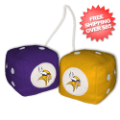 Car Accessories, Detailing: Minnesota Vikings Fuzzy Dice