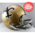 Helmets, Full Size Helmet: New Orleans Saints 1967 to 1975 TK Throwback Football Helmet