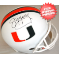 Autographs, Full Size Helmet: Jim Kelly Miami Hurricanes Autographed Full Size Replica Helmet
