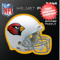Gifts, Holiday: Arizona Cardinals Helmet Puzzle 100 Pieces Riddell