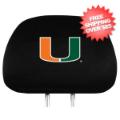 Car Accessories, Detailing: Miami Hurricanes Headrest Cover