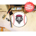 Home Accessories, Game Room: New Mexico Lobos Baseball Floor Mat