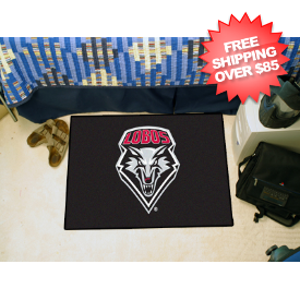 New Mexico Lobos Bedroom Floor Mat
