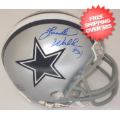 Autographs, Mini Football Helmets: Herschel Walker Dallas Cowboys Autographed Mini Helmet