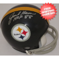 Autographs, Mini Football Helmets: Jack Ham Pittsburgh Steelers Autographed Mini Helmet